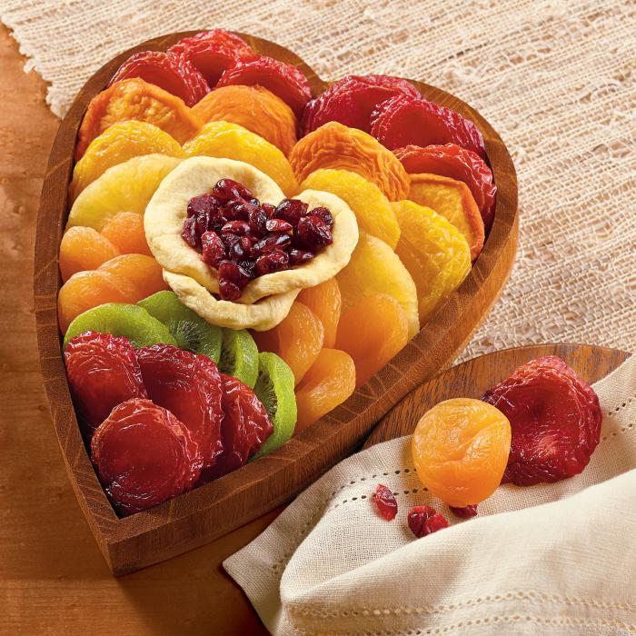 dried fruits from apples and pears