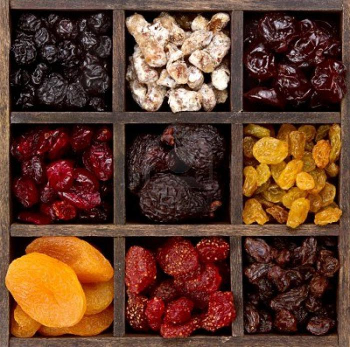 how many calories in dried fruit