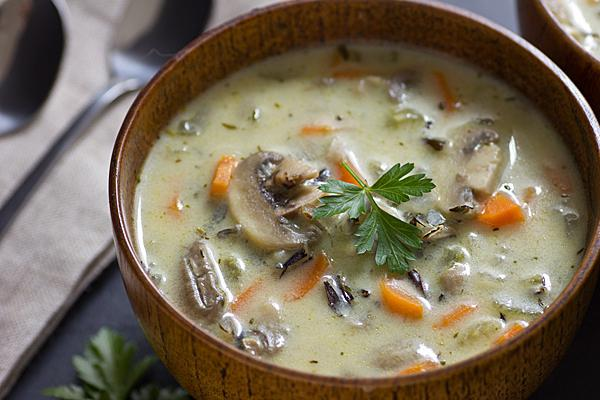 Куриный суп с белыми грибами рецепт