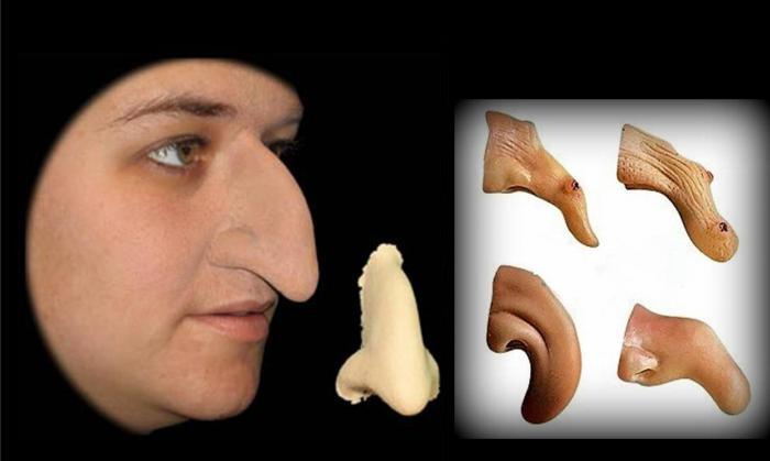 Как сделать нос бабы яги из папье 434