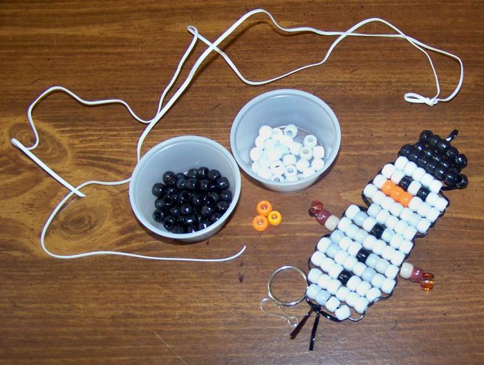 Снеговик из бисера: схемы