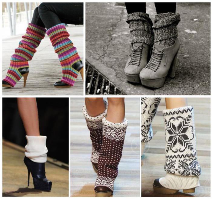 С чем носить гетры зимой? Вязаные гетры с чем носить ...