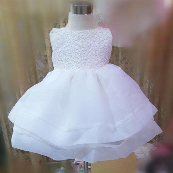 Выкройка детского нарядного платья на кокетке без рукавов с пышной юбкой. . Кокетки на полочке и спинке