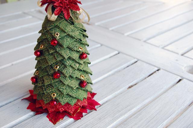 Елочки на Новый год своими руками: из бумаги, из ткани, из бисера