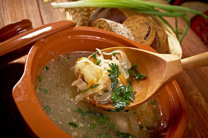 Рецепт: Щи из свежей капусты (классический рецепт) на ...