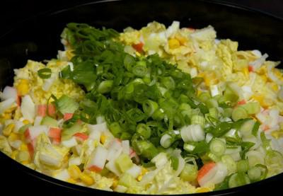 recipe for salad with crab sticks