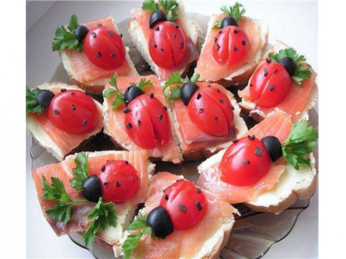 Бутерброды рецепты с красной рыбой