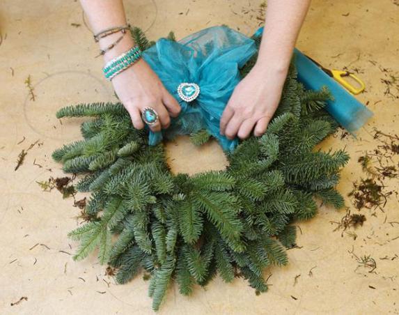 Как сделать венок рождественский своими руками?