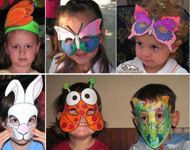 Карнавальная маска ребенку своими