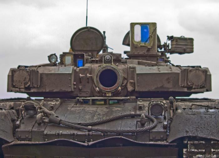 Ukrainian tank stronghold