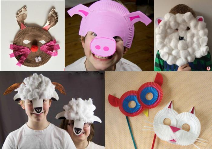новогодние маски из бумаги