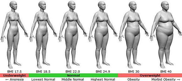 Индекс массы тела женщины с учетом возраста