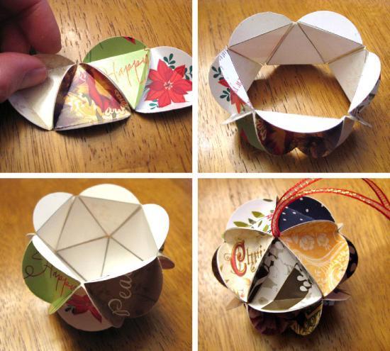Игрушки для ёлки своими руками из бумаги