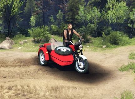 Обзор модов SpinTires-#1 Мотоцикл ИЖ Планета 5. Как увеличить производитель