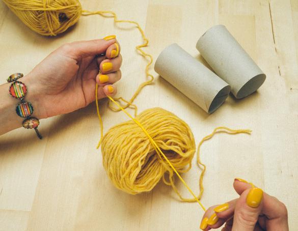 Помпон на вилке из ниток своими руками