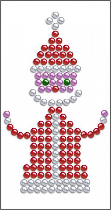 Мастер-класс: Дед Мороз из бисера