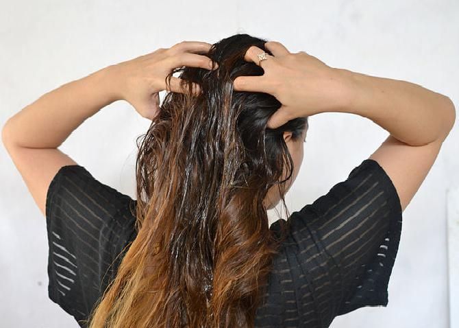 Маска против сильного выпадения волос