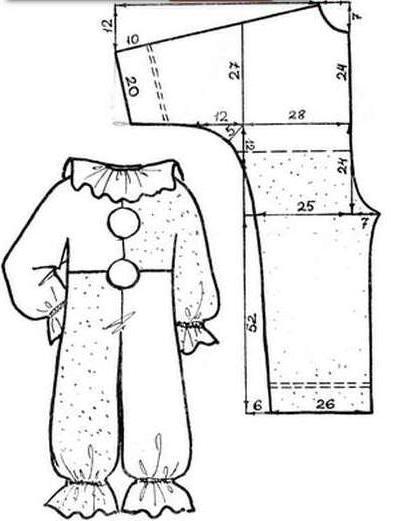 Выкройка костюма колобка