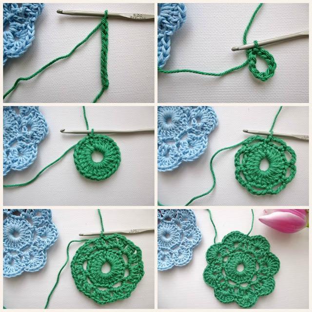 Вязание крючком. как связать цветы крючком 52
