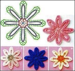 вязание цветов крючком для начинающих схемы