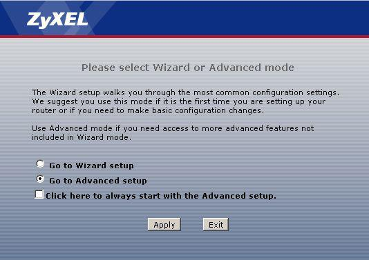 setting up a zyxel keenetic router