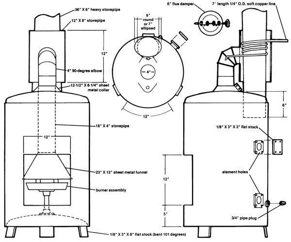 Теплообменник для печи своими руками на отработке