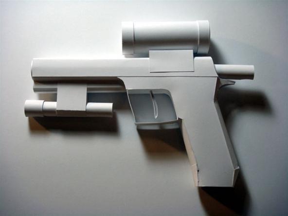 Автомата своими руками из бумаги