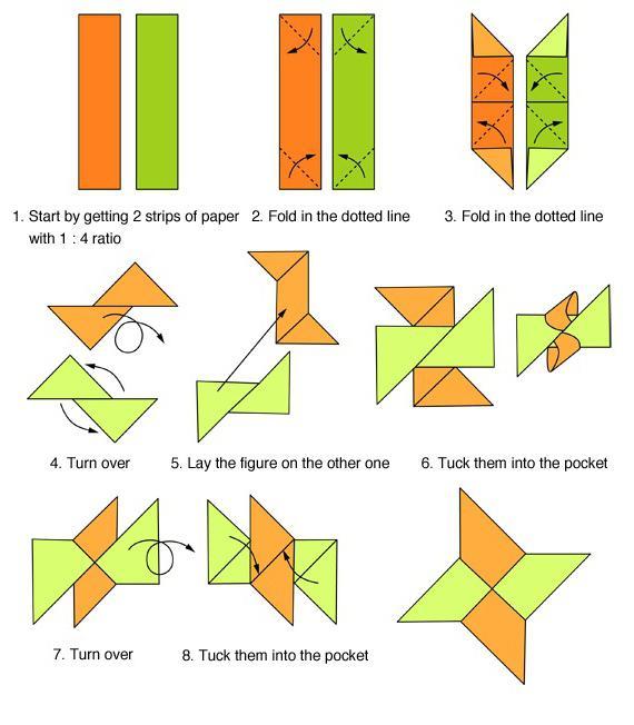 Инструкция оружия из бумаги
