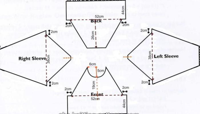 вязание спицами от горловины схемы