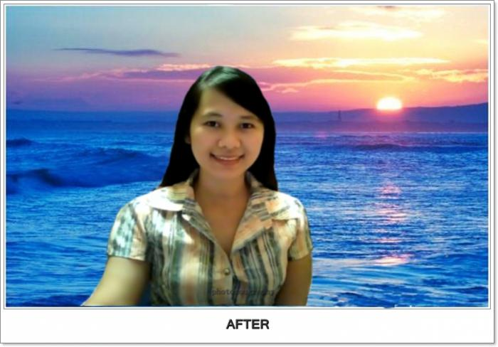 как поменять фон на фотографии в онлайн фотошопе