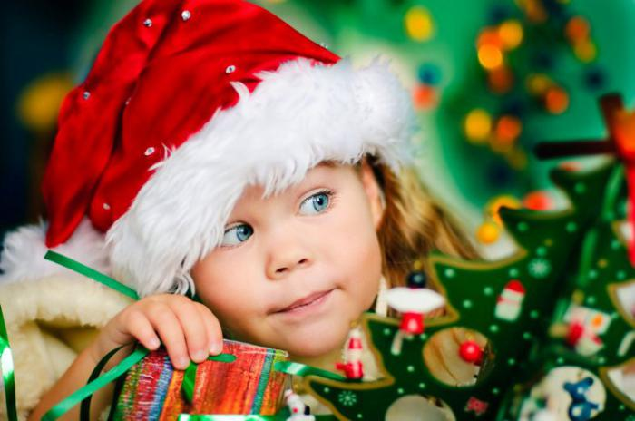 New Year's scenario for children at home