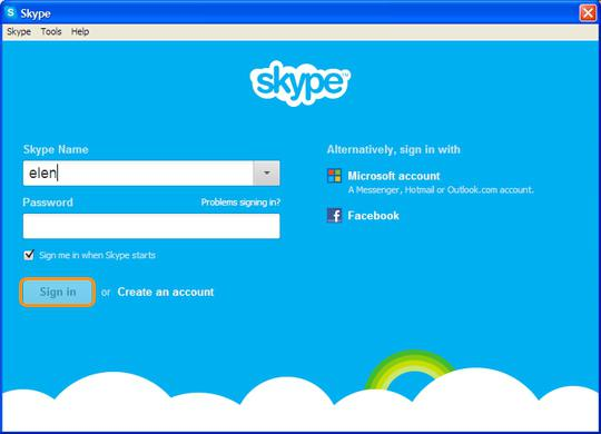 how to create a skype account
