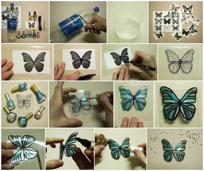 Бабочка на одежде своими руками