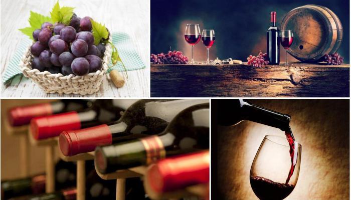 красные полусладкие вина
