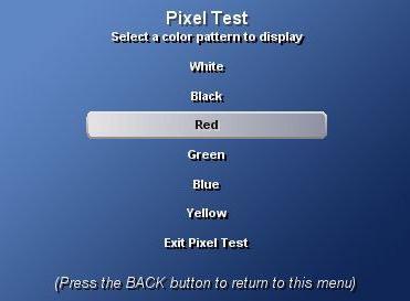 check for broken pixels TV