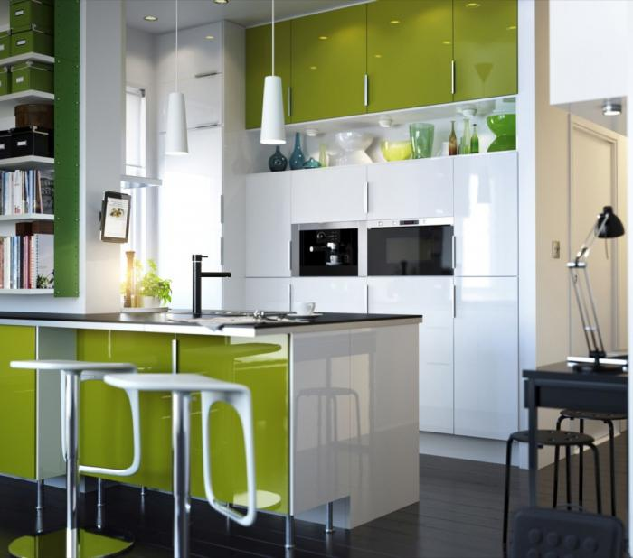 white kitchen interior