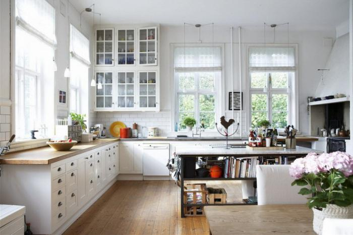 white kitchen in the interior