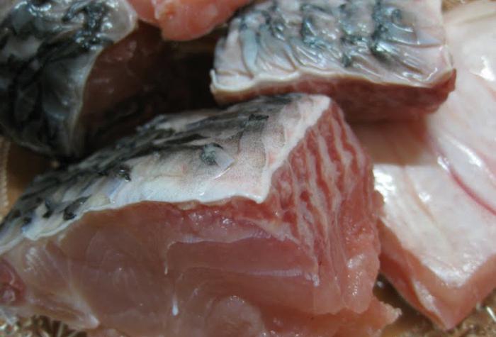 Pickled carp fish