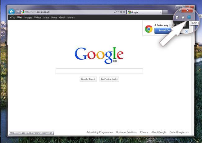 гугл хром сделать стартовой страницей