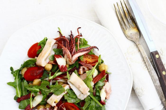 Рецепты салатов из кукурузы и кальмаров