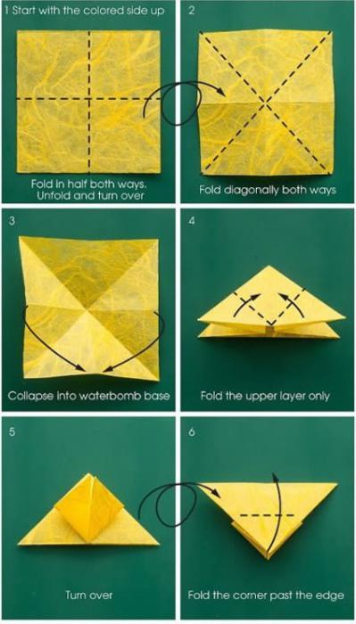 оригами бабочка схема