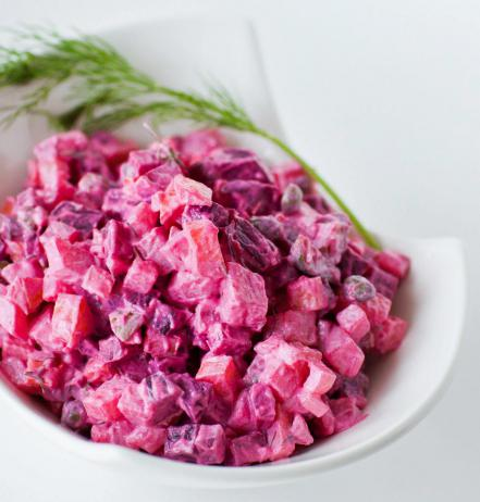 salad with herring and mayonnaise