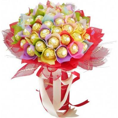 Конфеты в цветах розах своими руками из бумаги фото 349