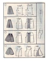 юбка шорты выкройка