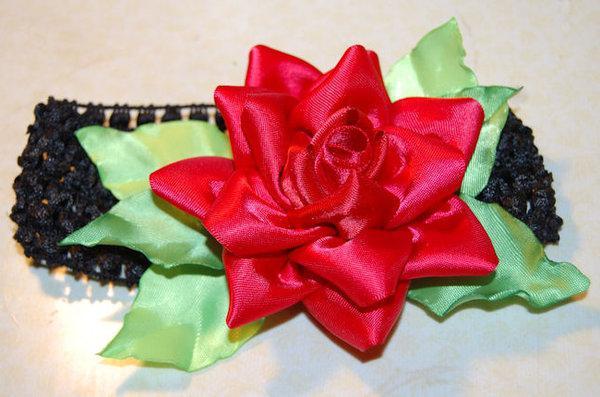 make a rose of satin ribbon