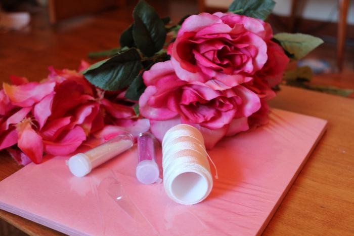 mk roses from satin ribbon