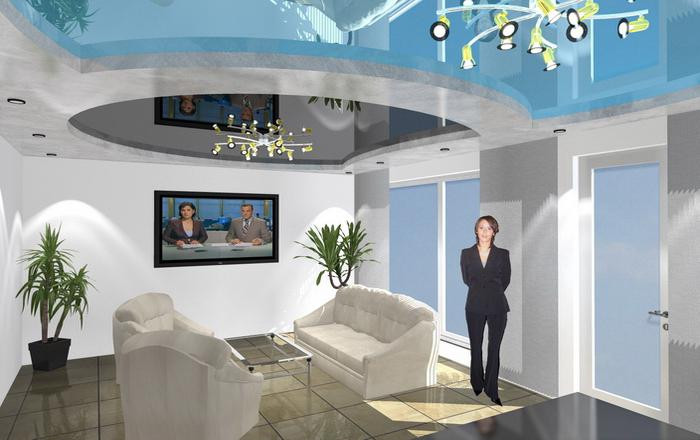 design project of plasterboard ceilings