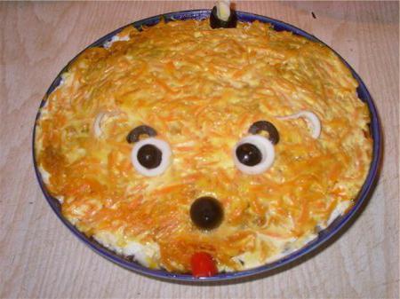 рецепт салата лисья шубка с грибами