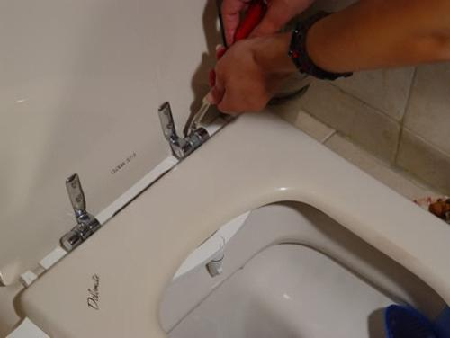 connecting a sanitary shower in the toilet