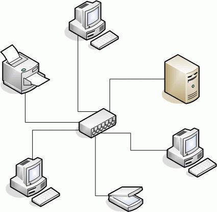 local network through
